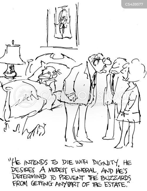 last will and testimony cartoon