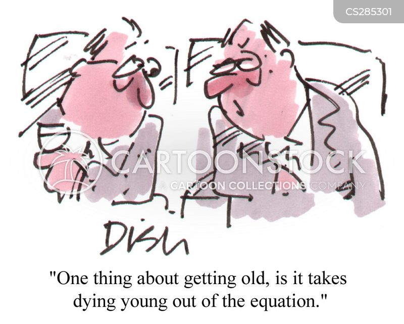 dying young cartoon