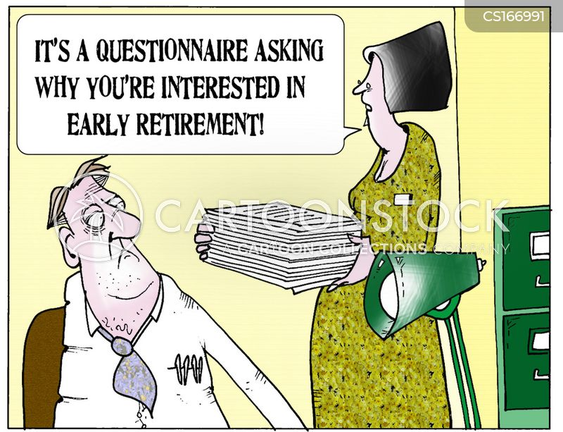 early retirements cartoon