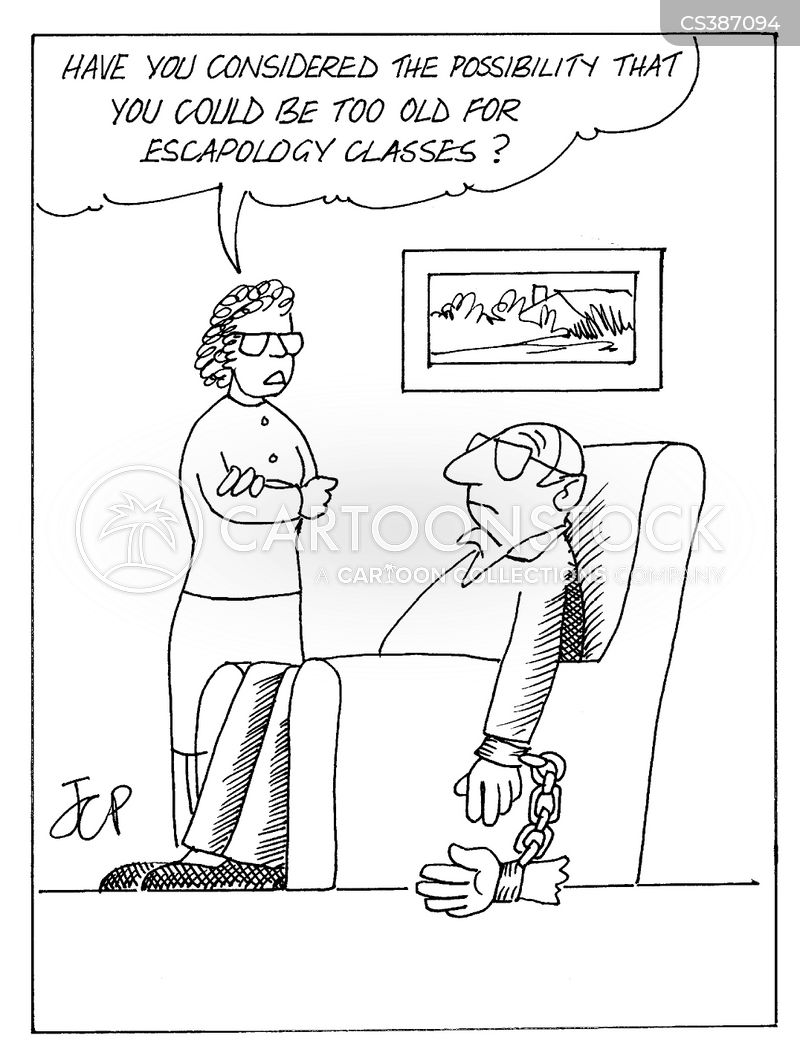escapologist cartoon