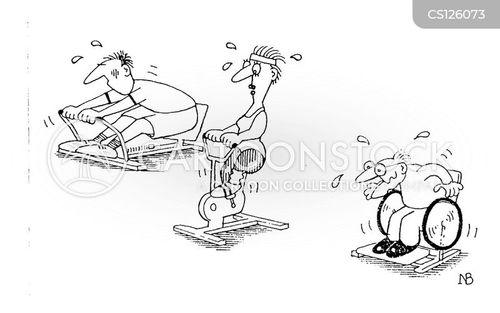 keep-fit cartoon