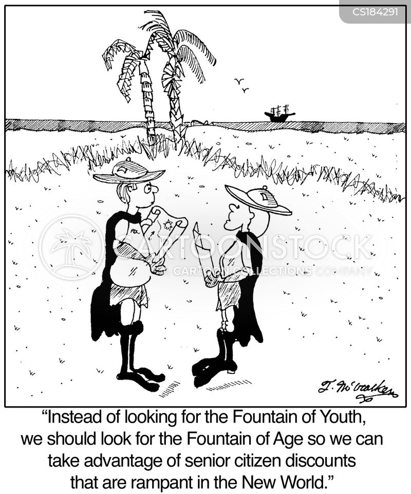 Fountain Of Youth Cartoons and Comics