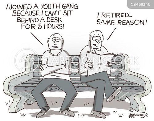 street gangs cartoon