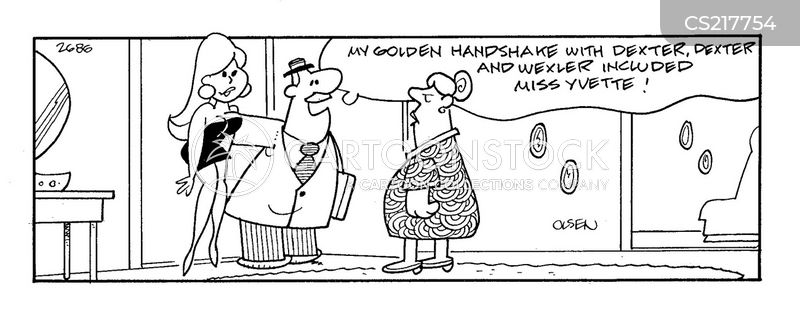 golden handshakes cartoon