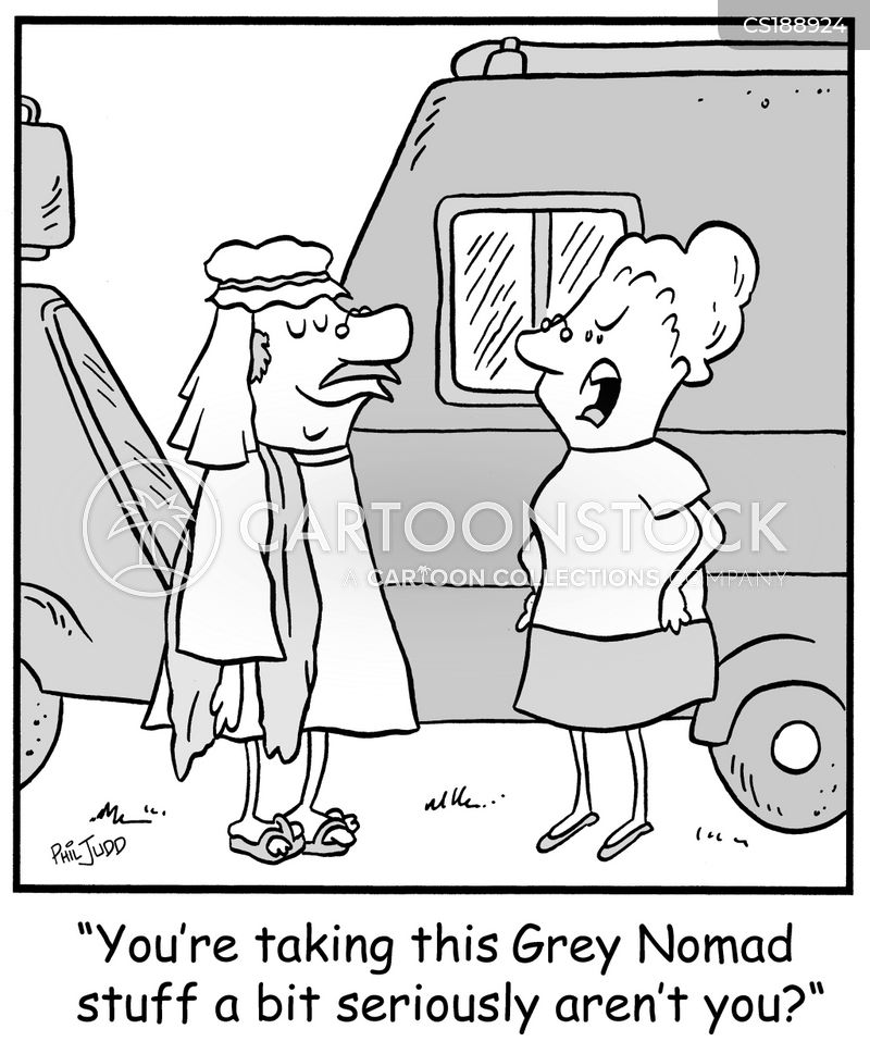 grey nomad cartoon