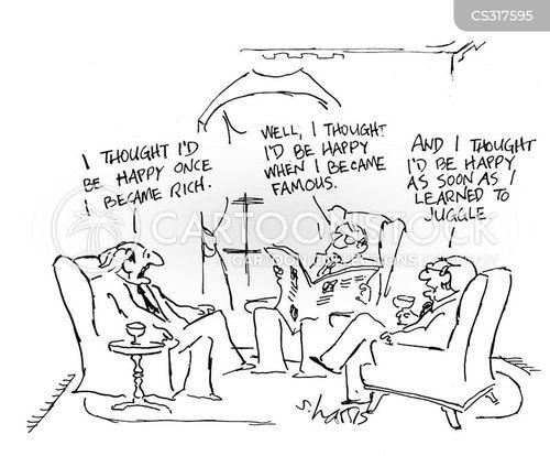 being happy cartoon