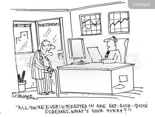 Get Rich Quick Scheme Cartoon 2 Of 7