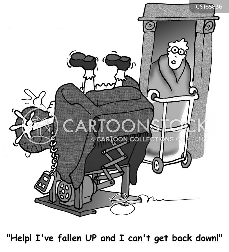 walking frame cartoon