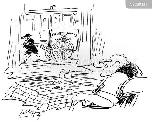 chinese take away cartoon