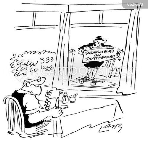 meals on wheel cartoon