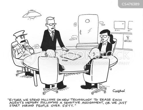 debriefing cartoon