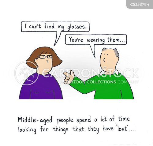 lost glasses cartoon
