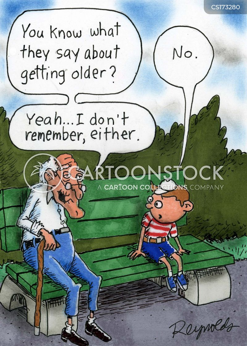 Image result for middle-age memory cartoons