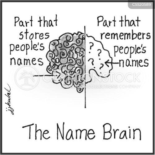 remembering names cartoon