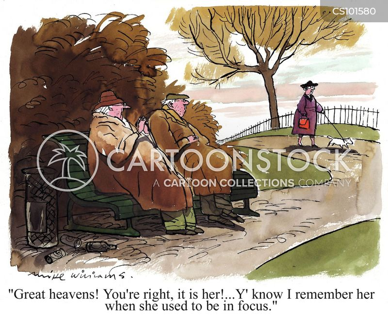 elderly person cartoon