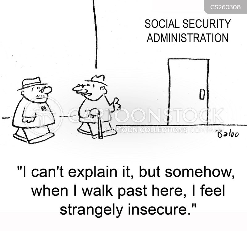 feeling insecure cartoon