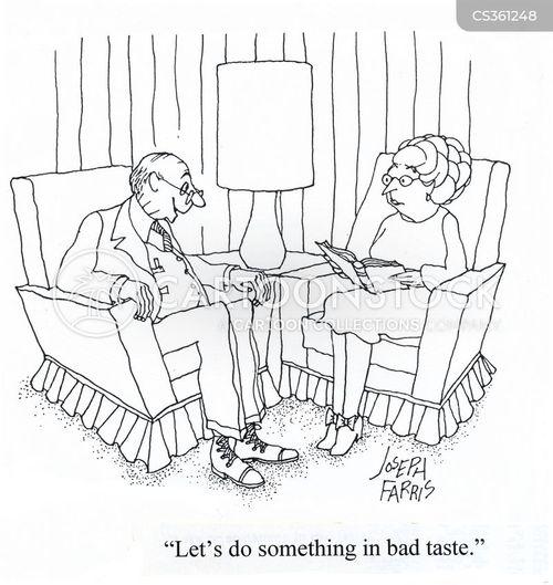 elderly women cartoon