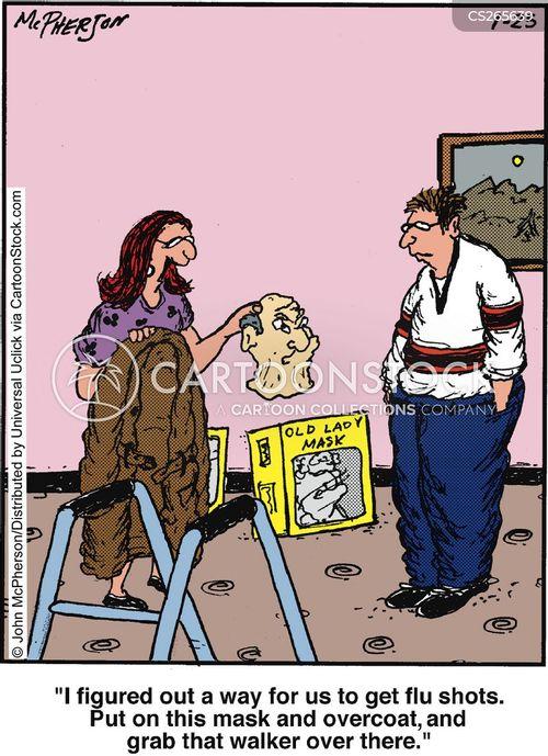 flu shot cartoon