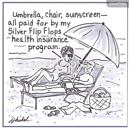 beach umbrella cartoon