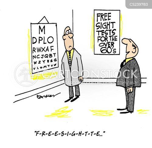 Testing Cartoons Free Free Eye Test Cartoon 1 of 1