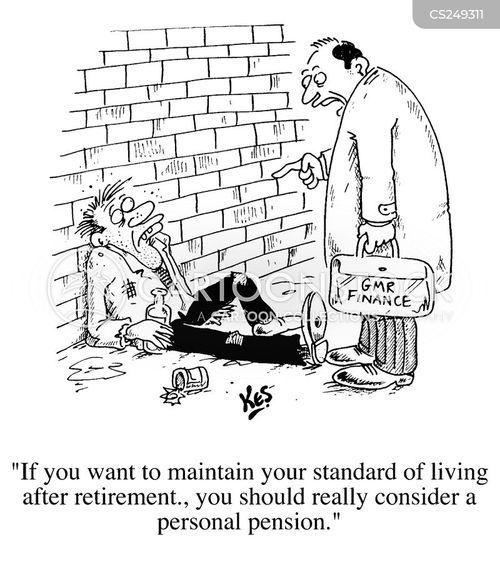 pension companies cartoon