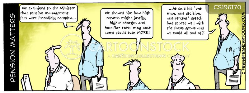 pension adviser cartoon