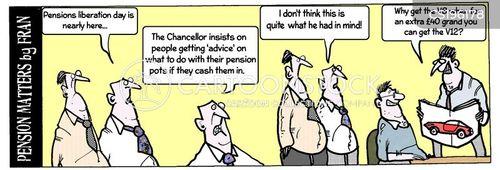 pensions advisers cartoon