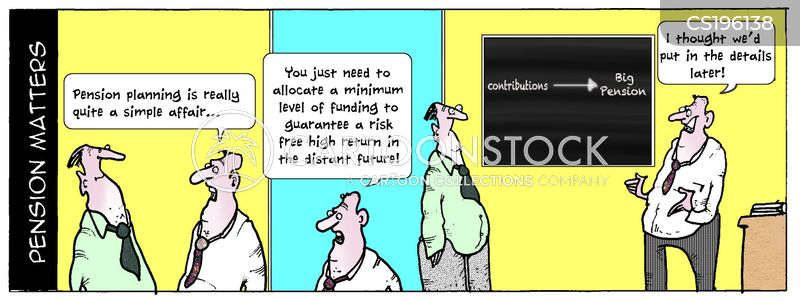 pension planning cartoon