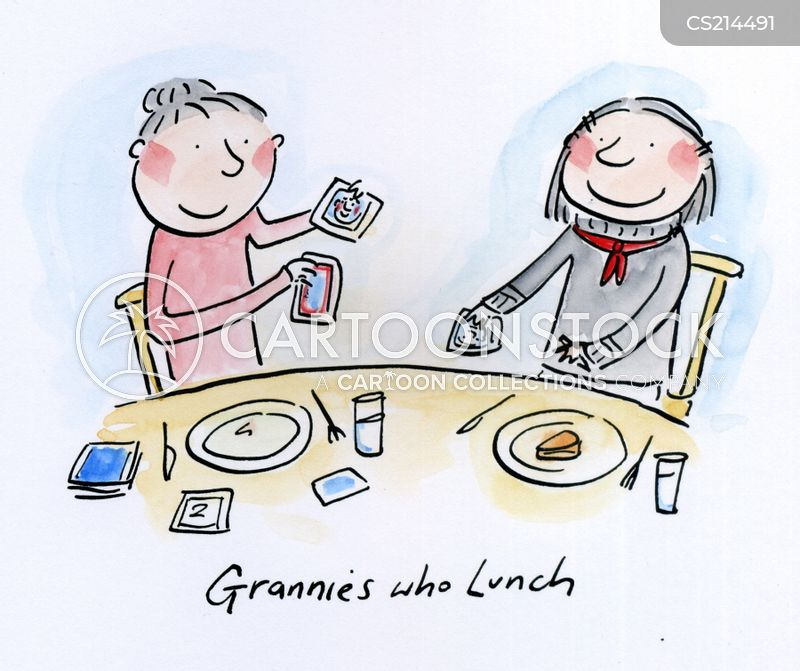 ladies who lunch cartoon