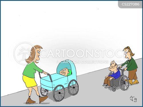 wheel chair cartoon