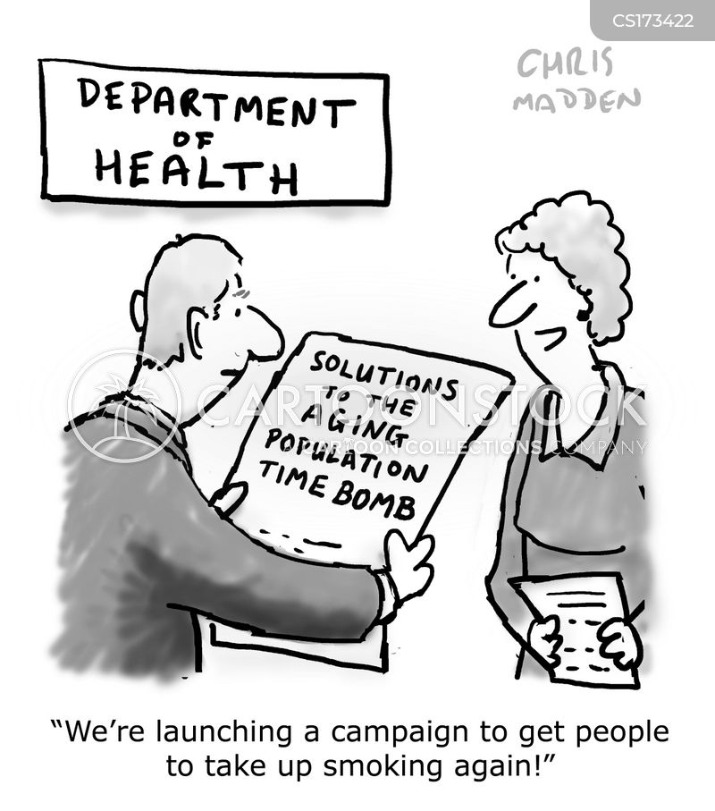 ageing population cartoon