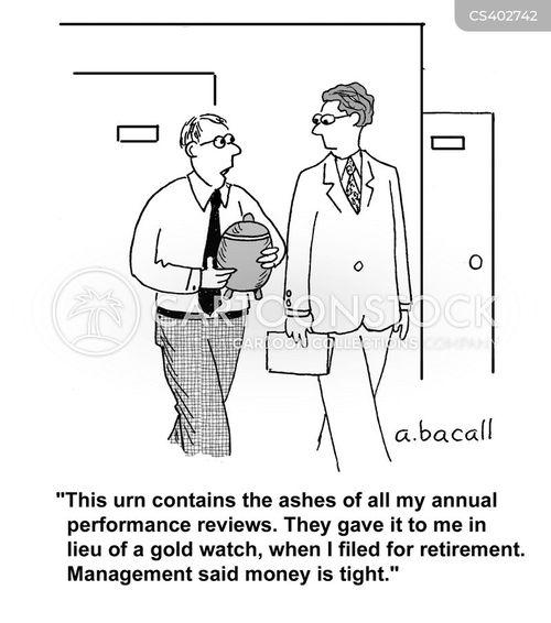 retirement package cartoon