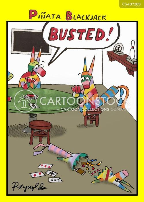 poker match cartoon