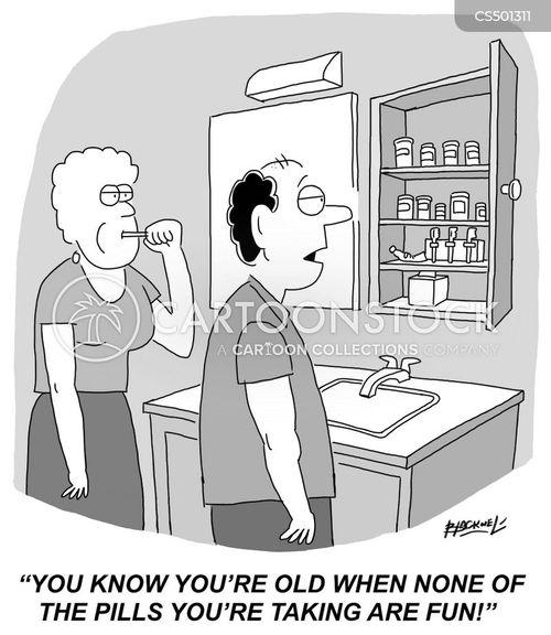 gerascophobia cartoon