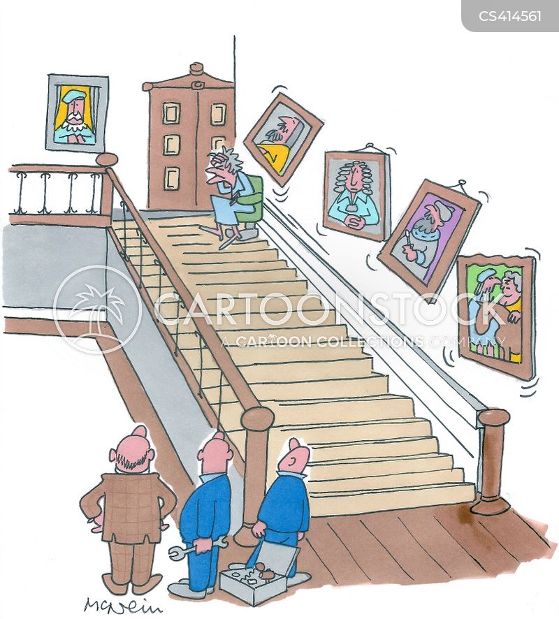 stair-lifts cartoon