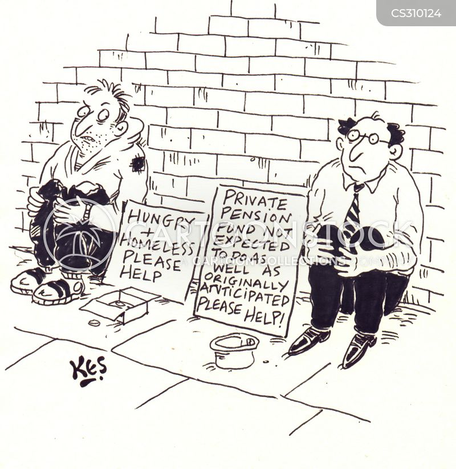 private pensions cartoon