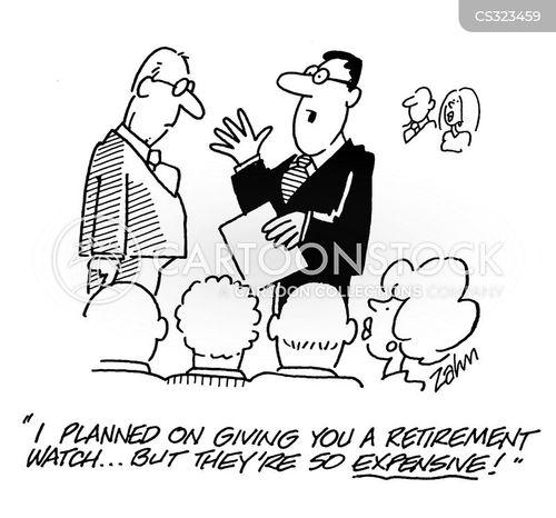 retirement watch cartoon
