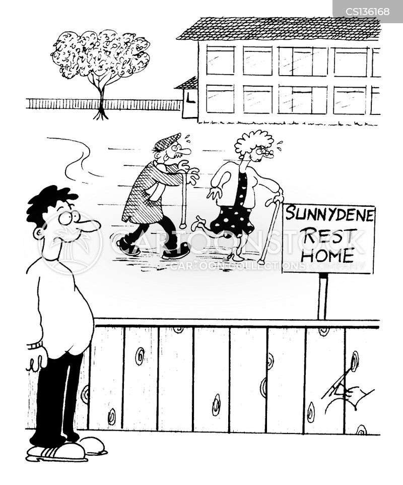 rest homes cartoon