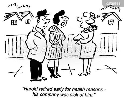 sick pay cartoon