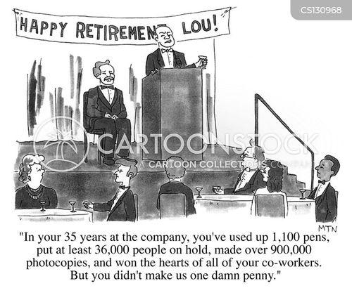 retirement speeches cartoon