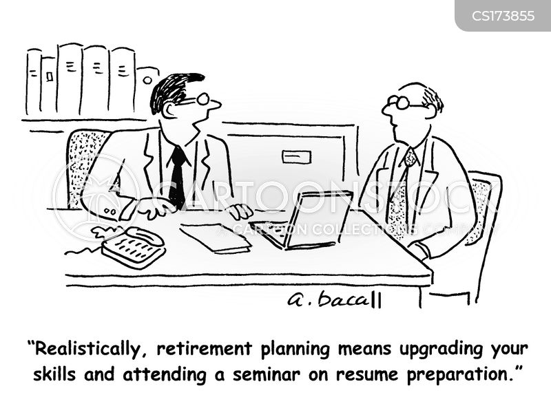 retirement age cartoon