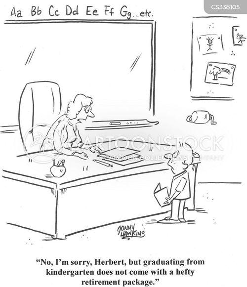 leaving school cartoon