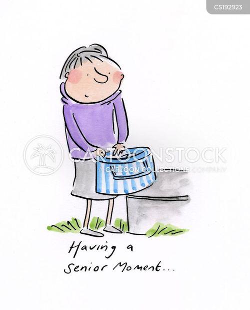 senior moment cartoon