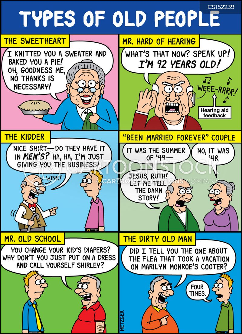 old ages cartoon