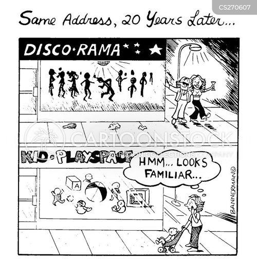 the past cartoon