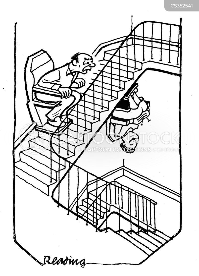 Stair Lift Cartoons and Comics - funny pictures from CartoonStock