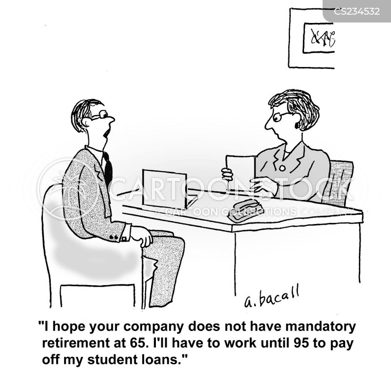 mandatory retirement cartoon
