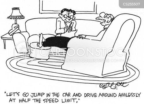 sunday driver cartoon