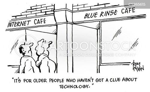 blue rinses cartoon