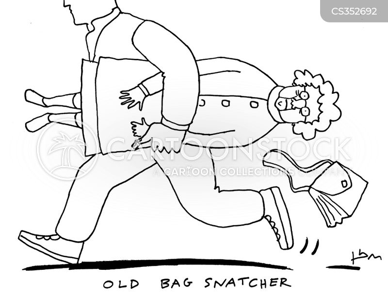 bag snatchers cartoon